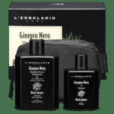 l erbolario maxi beauty set ginepro nero bagnodoccia profumo eau de toilette
