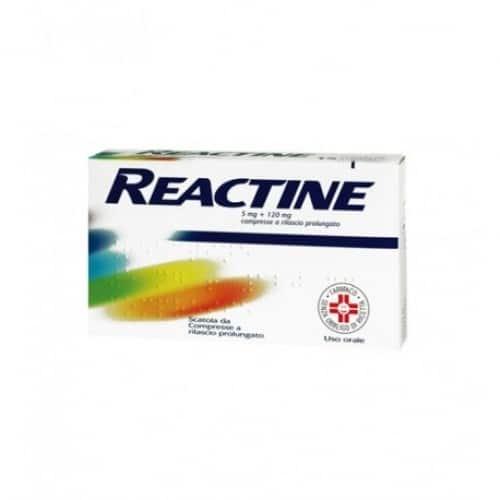 reactine 5mg + 120mg compresse a rilascio prolungato
